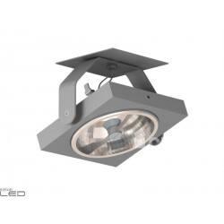 CLEONI Zeta T024M3Ad101 oprawa sufitowa srebrny mat