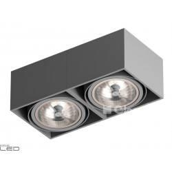 CLEONI Tuz T019X2Sd101 oprawa sufitowa srebrny mat