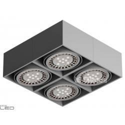 CLEONI Tuz T019X5Sd101 oprawa sufitowa srebrny mat