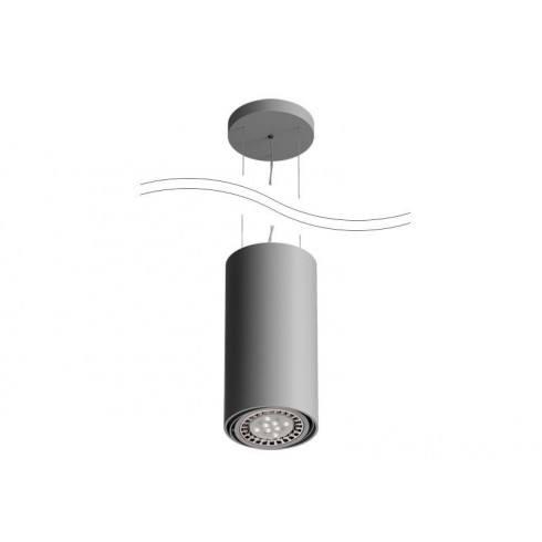CLEONI Tuz T019S1Wd101 lampa wisząca srebrny mat