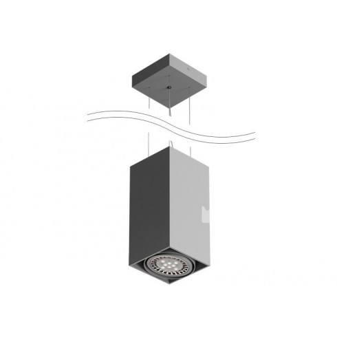 CLEONI Tuz T019S2Wd101 lampa wisząca srebrny mat