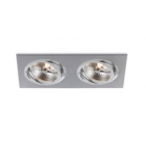 BPM Aluminio Plata 3051-2xQR111 12V