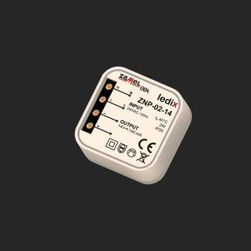 Power supply spin on ZNP-02-14 14V DC/2W for luminaires Ledix