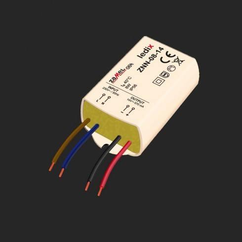 LEDIX ZNN-08-14 Zasilacz natynkowy 14V DC/8W