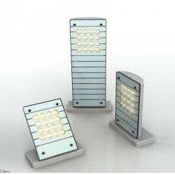 PLAN GLASS MAXI glass external LED lamp