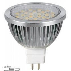 Żarówka LED-POL MR16 30 LED Aluminium Biała Ciepła Gold