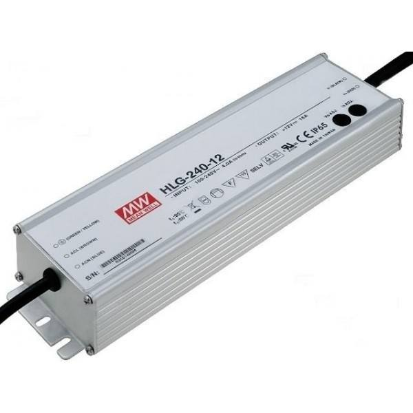 LED Power Supplies Mean Well 192W 16A HLG-240-12 12V DC ...