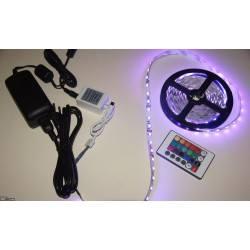 Taśma LED RGB + zasilacz + sterownik z pilotem IR