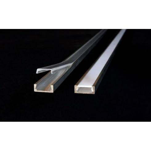 Profil LED MICRO-ALU z osłonką mleczną lub transparentną
