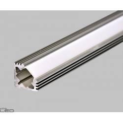 Profil LED 45 ALU nieanodowany z osłonką