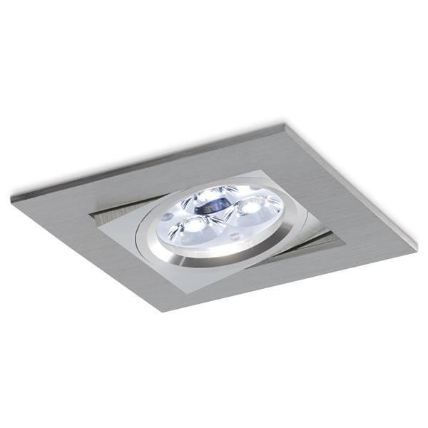 BPM Kare 3000 LED oprawa sufitowa z alu szczotkowanego 10W, 7W