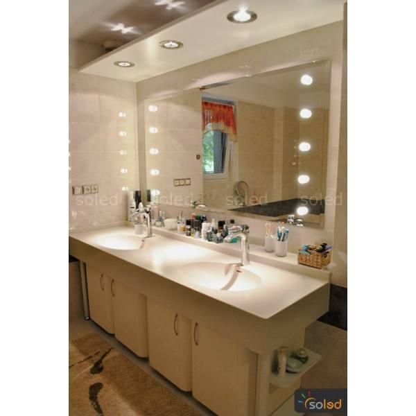 Mirror led 12x3w 100x80cm 100x90cm soled for Miroir 100 x 80