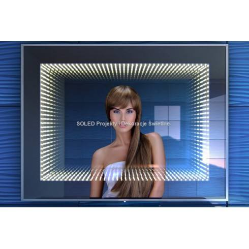 Lustro 3D LED Infinity 70x50cm, 80x60cm, 90x70cm, 100x80cm