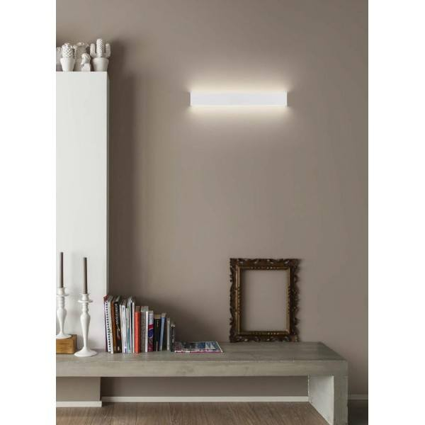 LINEA LIGHT Box LED 7384, 7394 Wall light 32cm white, beton dark grey