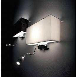 IDEAL LUX  Kinkiet Hotel AP2 biały, czarny 35949, 35956