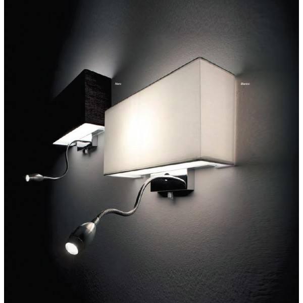 ideal lux kinkiet hotel ap2 bia y czarny 35949 35956. Black Bedroom Furniture Sets. Home Design Ideas