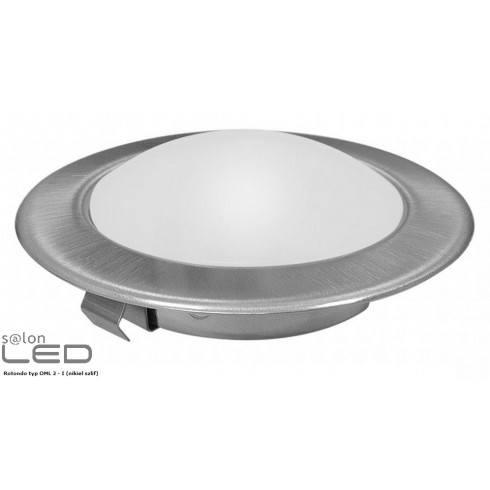 LED luminaire furniture ROTONDO OML1 nickel-edged white, warm white
