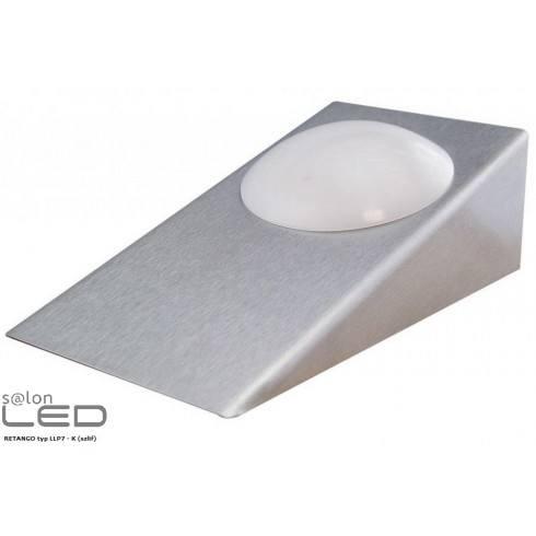 Oprawa meblowa LED RETANGO LLP7 lustro, szlif, aluminium