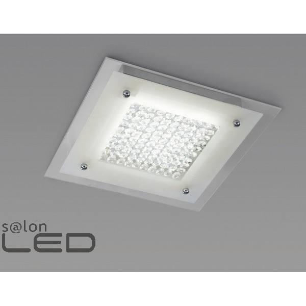 Kwadratowy plafon led mantra crystal 4561 - Plafon led techo ...