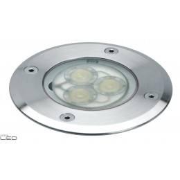 DOPO Exterior recessed lamp BORA 3x1W