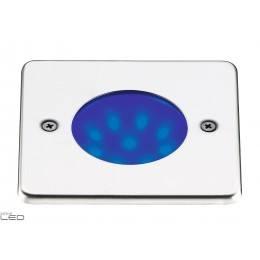 EXO Oprawa wpuszczana NAT-LED kwadratowa biały, niebieski, zielony