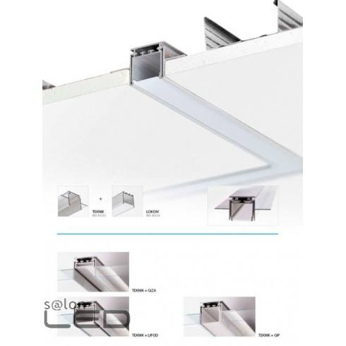 profile led lipod in the surfaces of drywalls. Black Bedroom Furniture Sets. Home Design Ideas