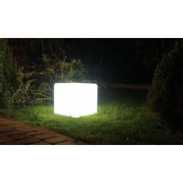 Lampa kostka CUBE LED biała, RGB 40-50cm 230V