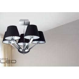 Lampa wisząca Maxlight ORLANDO 5 5103/5A WH/BK chrom/satyna, biały, czarny