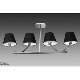 Lampa wisząca Maxlight ORLANDO 4 5103/4A WH/BK chrom/satyna, biały, czarny