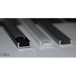 LED alu profile silver, white, black