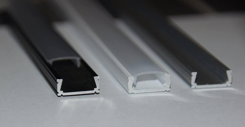 Profil Led Mini Anodowany Srebrny Biały Czarny