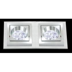 BPM SQUARE 3067 LED 2x10W, 2x7W oprawa aluminium