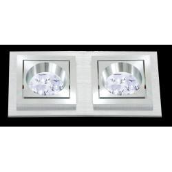 BPM SQUARE 3067 LED 2x10W, 2x7W alu brushed
