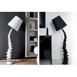 Lampa podłogowa Maxlight FINN biała, czarna