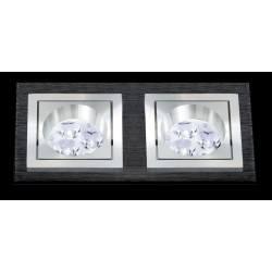 BPM SQUARE 3068 LED 2x10W, 2x7W czarna szczotka