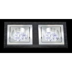 BPM SQUARE 3068 LED 2x10W, 2x7W black brushed