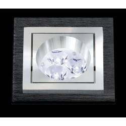 BPM SQUARE LED 3074 10W, 7W black brushed