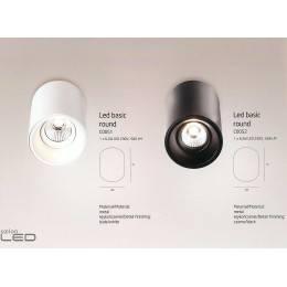MAXlight LED Basic Round biała, czarna C0051, C0052