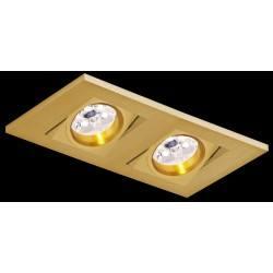 BPM KARE 2001 LED 2x10W, 2x7W podwójna złota