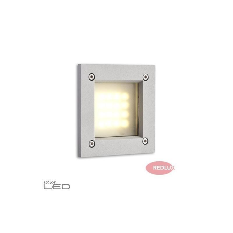 redlux atria led r10201 recessed wall light 3w silver