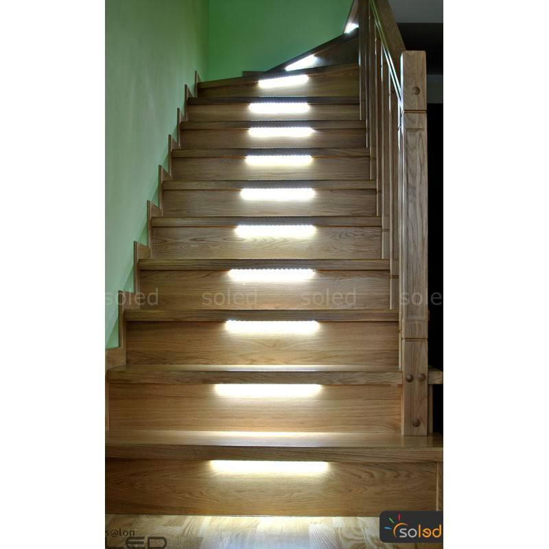 Led Stair Lighting Zos3 Complete Set At 5 Stairs Length 30cm Soled