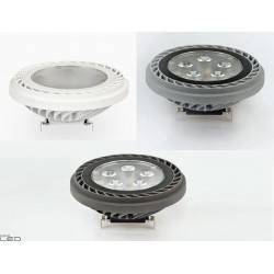 LEDECCO AKME SPOT LED AR111 15W biała, srebrna, grafit