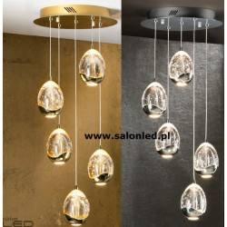 Lampa wisząca SCHULLER ROCIO 5 LED chrom, złota