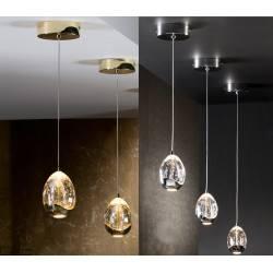 Lampa wisząca SCHULLER ROCIO 1 LED chrom, złota