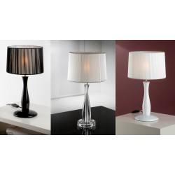 Lampa stołowa SCHULLER LIN biała, czarna, przeźroczysta