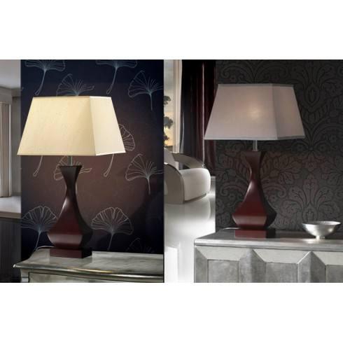Lampa stołowa LED SCHULLER DECO 661565N ciemny brąz