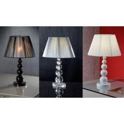 Lampa stołowa SCHULLER MERCURY biała, czarna, przeźroczysta