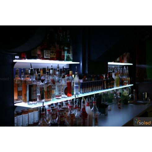 Podświetlana półka szklana 900x200x8mm