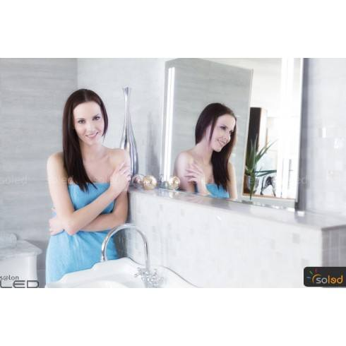 Modern mirror with LED backlighting.