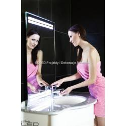 Modern mirror with LED backlighting. 120x80cm